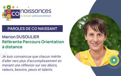 Portrait interview Marion Dusoulier Parcours Orientation à distance